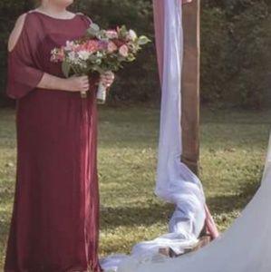 Bridesmaid Wine Dress